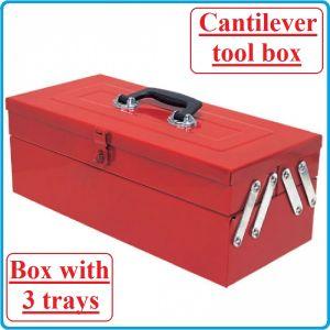 Кутия за инструменти, метална, 3 отделения, 460mm, TonGrun, TBC 121