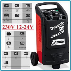 Зарядно, стартерно, устройство, 12-24V, 20-1000Ah, Telwin, D420S