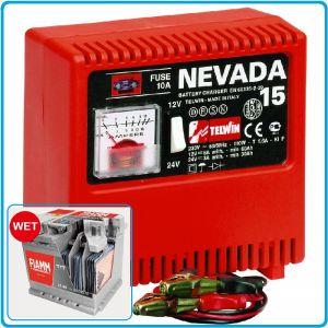 Зарядно устройство, за акумулатори, 12-24V, 30-115Ah, Telwin, NEVADA 15