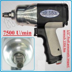 """Гайковерт, пневматичен, ударен, 1/2"""", 1 360 Nm, TWIN BUSCH, A101281T"""