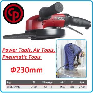 Ъглошлайф, Пневматичен, 230mm, 2100W, Chicago Pneumatic, CP3850-65AB9VE