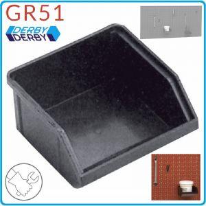 Кутия, контейнер, модулен, открит, 105x105mm, PVC, Derby, GR51