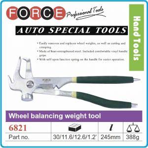 Клещи / чук, за баланс тежести на джанти / гуми, 245mm, Force, 6821