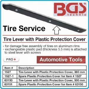 Щанга за гуми, лост с PVC протектор, 380mm / 500mm, BGS, 1527/63150