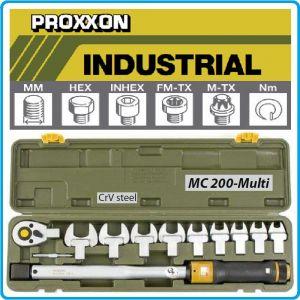 """Ключ динамометричен, автоматичен, 40-200 Nm, 1/2"""", сменяеми глави, PROXXON"""