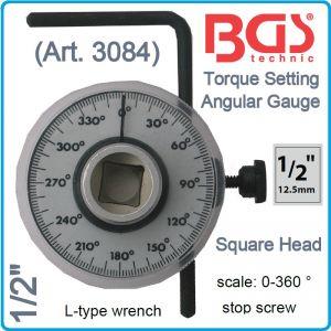 """Ъгломер механичен, градусомер на въртящ момент, 1/2"""", BGS, 3084"""