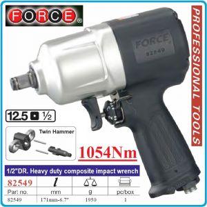 """Гайковерт пневматичен, ударен, 12.5mm, 1/2"""", 1050 Nm, Force, 82549"""