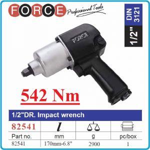 """Гайковерт пневматичен, ударен, 12.5mm, 1/2"""", 540 Nm, Force, 82541"""