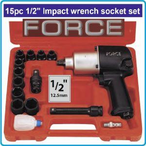 """Гайковерт пневматичен, к-т 15ч, 12.5mm, 1/2"""", 540 Nm, Force, 4142"""