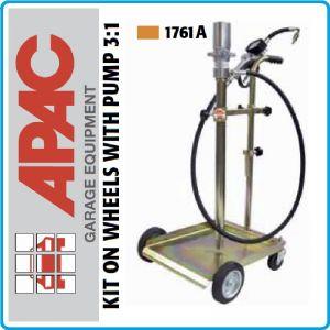 Помпа, за масло, пневматична, мобилна, 60kg, 8Bar, 3:1, Аpac, 1761А