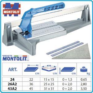 Машини за керамика, 2 размера плочи, 20x360-450mm, Montolit, 26/43А2