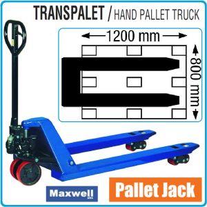 Палетна количка, транспалетна, вилична, 2.5t, 1110mm, Maxwell, TRE8220B