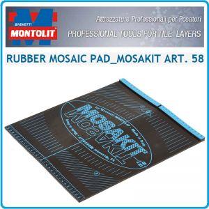 Гумена плоча, подложка, за мозайка, 300x350mm, Montolit, Mosakit 58