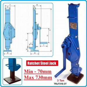 Крик, латерна, механичен, с манивела, 3t, 730mm, Maxwell, 7310-3