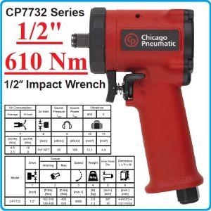 """Гайковерт пневматичен ударен, 1/2"""", 610 Nm, Mini, Chicago Pneumatic, CP7732"""