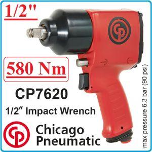 "Гайковерт, Пневматичен, Ударен, 1/2"", 580 Nm, Chicago Pneumatic, CP7620G"