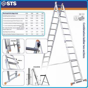 Стълба, алуминий, двураменна, 3.4m, 3.9m, 4.5m или 5.1m, STS