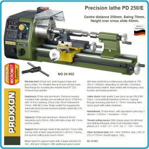 Струг, мини, прецизен, метал, 250mm, PROXXON, PD 250/Е