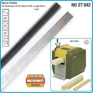 Нож, за ренде, щрайхмус, 82 mm, к-т 2бр, Proxxon, 27042