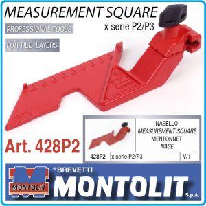 Ъгъл, за линеал, оразмерен, за машини P2 и P3, 65x180mm, Montolit, 428P2