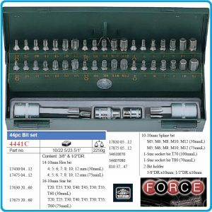 Накрайници, специални, 10mm, комплект 44части, Force, 4441CT