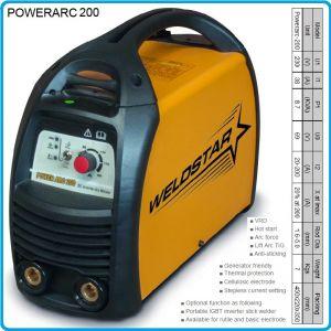 Инвертор, апарат заваръчен, 200A, 1.6-5.0mm, WELDSTAR, ARC200