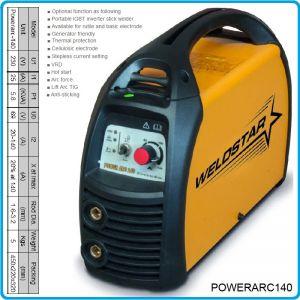 Инвертор, апарат заваръчен, 140A, 1.5-3.2mm, WELDSTAR, ARC140