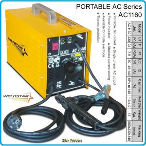 Електрожен, апарат заваръчен, 140A, 1.6-4.0mm, WELDSTAR, AC1160