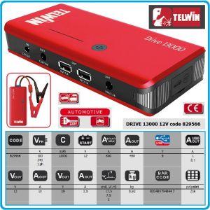 Стартиращо устройство, външна батерия, 12V, LiPo, 12Ah, Telwin, DRIVE 13000