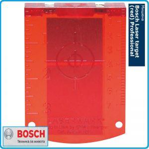 Лазерна мишена, за лазерни нивелири, Laser target (red), Bosch, Professional