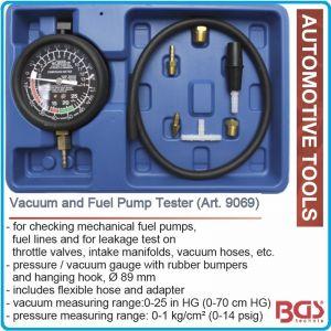 Вакууммер, вакуум тестер, за горивни помпи, Ø89mm, 0-1kg/cm², BGS, 9069