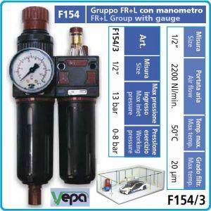 """Пневмо група, за сгъстен въздух, 1/2"""", 13Bar, 2200l/min, FRL, Vepa, F154/3"""