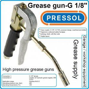 """Пистолет за гресиране, с твърд накрайник, G1/8"""", 400Bar, Pressol, 18104"""