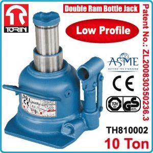 Крик, низкопрофилен, хидравличен, 10t, 125mm, TonGrun, TH810002