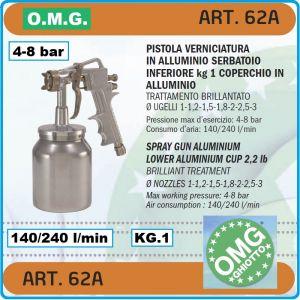 Пистолет за боядисване, ДК, пулверизатор пневматичен, 1kg, 8Bar, OMG, 62А