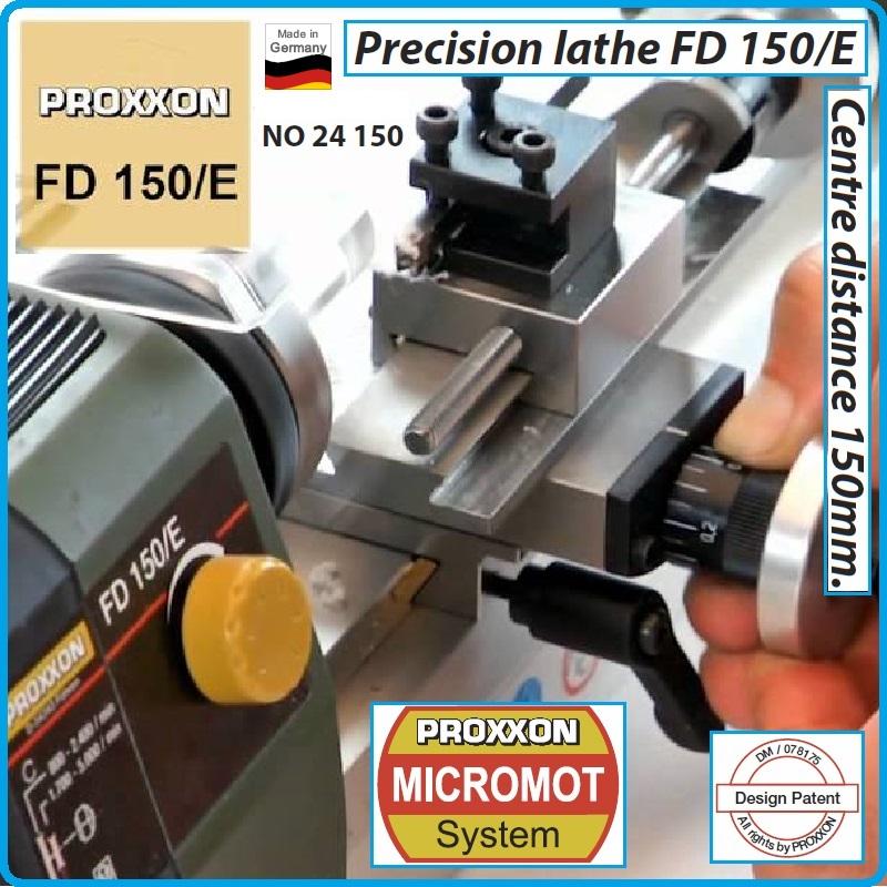24150 proxxon mikromot fd 150 e 150mm for Tornio proxxon fd 150 e 24150
