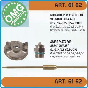 Дюза за бояджийски пистолет, к-т, 3 части, Ø1.8 или Ø2.0mm, OMG, 6162