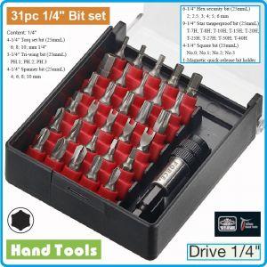 """Накрайници, 1/4"""", к-т 31 броя, битове специални, 6.3mm, Force, 2315"""
