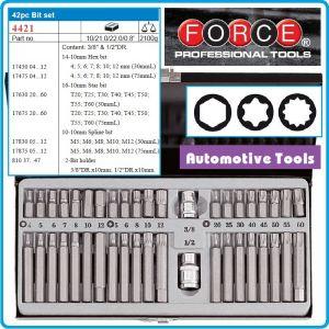 Шестограми специални, 10mm, накрайници к-т 42части, Force, 4421