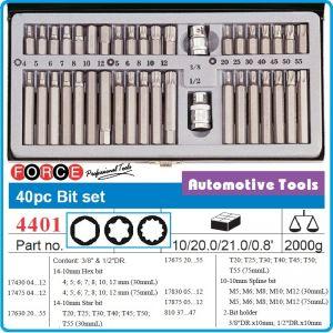 Шестограми специални, 10mm, накрайници к-т 40части, Force, 4401