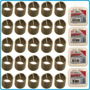 Вложки за резби, 25 бр, спирали за ремонтен комплект M5/6/8/10, BGS, 1959-1/4