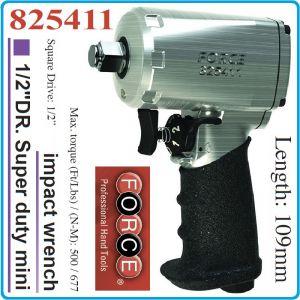"""Гайковерт пневматичен ударен, S.d. mini, 109mm, 1/2"""", 680 Nm, Force, 825411"""