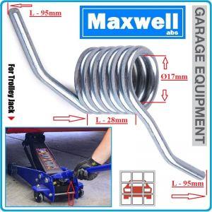 """Пружина за крик """"крокодил"""", Ø17mm, L95x28mm, Maxwell, 0701"""