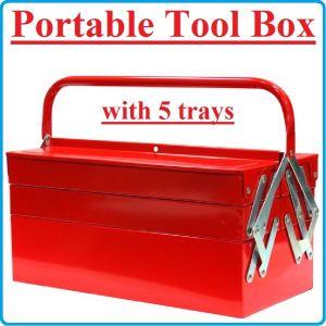 Кутия за инструменти, метална, 5 отделения, 400mm, TonGrun, TBC123