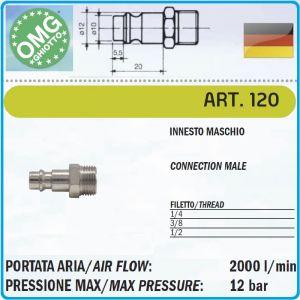 Бърза връзка, накрайник, за въздух, с резба, 3 размера, OMG, 120