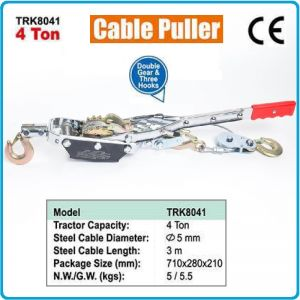 Лебедка ръчна с лост, устройство за изтегляне, 4t, 5m, TonGrun, TRK8041