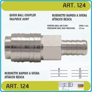 Бърза връзка, за въздух, накрайник, за маркуч, 6 размера, OMG, 124