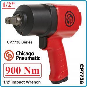 "Гайковерт, Пневматичен, Ударен, 1/2"", 900 Nm, Chicago Pneumatic, CP7736"