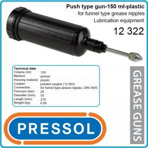 Такаламит с конусен накрайник, малък, 150ml, 20Bar, Pressol, 12322