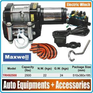 Лебедка, електрическа, 12V, 1140kg, 2500Lbs, Maxwell, TRH92500
